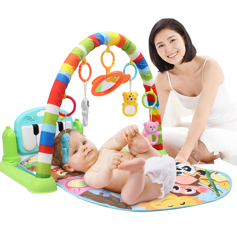 Toys & Hobbies Baby Rattles & Mobiles Honest Baby Activity Gym Childrens Play Mat 0-12 Months Developing Carpet Soft Rattles Musical Toys Activity Rug For Babies Games