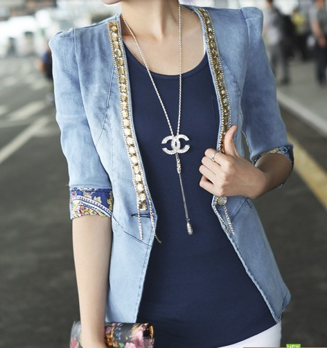 Popular Denim Half Jacket-Buy Cheap Denim Half Jacket lots from