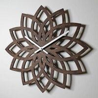 Modern Wooden Wall Clock Fashion Creative Watch Mechanism Pow Patrol Flower Guess Women Quartz Relogio Parede Clock Mute 50ZB041