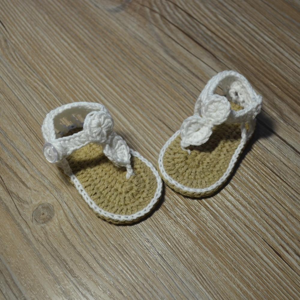 QYFLYXUE-Freeshipping dziecko Crochet shoes, noworodka rozmiar 0-12 M - Buty dziecięce - Zdjęcie 6