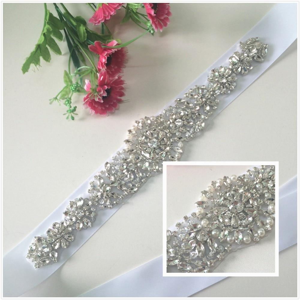 Wholesale Crystal Rhinestone Belt For Wedding Dress crystal rhinestone applique patch bridal wedding dress sashes