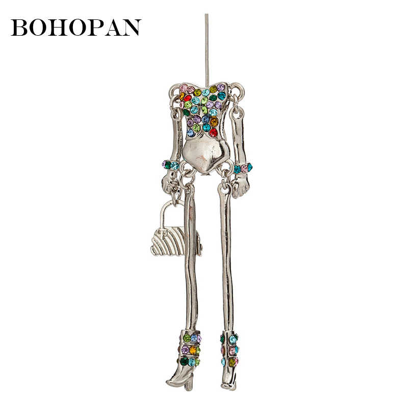 Colour Crystal Doll Jewelry Findings For Women Handbag Metal Figure Pendants DIY Necklaces Making Charm Jewelry Accessories