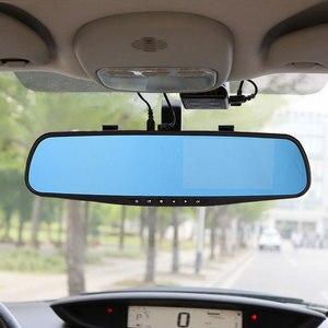 """Image 5 - Jiluxing H03S 4.3 """"FHD 1080P araba dvrı çift Lens araç kamerası arkadan görüş ayna Video kaydedici Dash kamera otomatik gece görüş"""