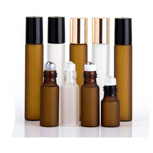 50 x 3ml 5ml 10ml Frost Clear Amber Roll On Roller  Bottle for Essential Oils Refillable Perfume Bottle Deodorant Containers