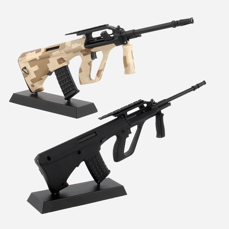 Aug Alloy 1:3 Assault Rifle Metal Removable Gun Model Can Not Shoot Boy Gift Collection And Decoration
