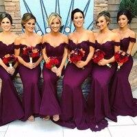 2018 г. пикантные Милая Русалка платья невесты Glamorous Фиолетовый Аппликации Африканский Свадебный платье для выпускного вечера вечерние плать