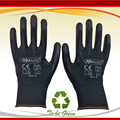 NMSAFETY 12 pairs Lightness comfortable black polyester/nylon cheap safety work gloves