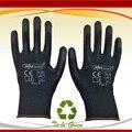 Nmsafety 12 pairs leveza confortável preto poliéster/nylon barato luvas de segurança do trabalho