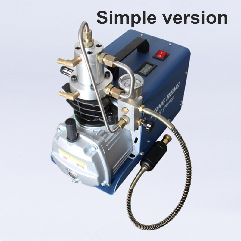 220v 110v 300BAR 30MPA 4500PSI High Pressure Air Pump Electric Air Compressor for Pneumatic Airgun Scuba Rifle PCP Inflator yongheng 300bar 30mpa 4500psi high pressure air pump electric air compressor for pneumatic airgun scuba rifle pcp inflator
