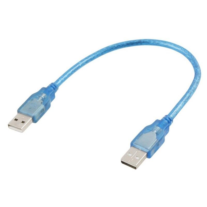Humoristisch 30 Cm 1 Ft Usb 2.0 Type A/a Male Naar Male Extension Cable Cord Blue Voor Het Verbeteren Van De Bloedsomloop
