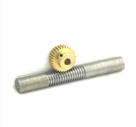 1M-60T Copper worm gear + worm rod reducer transmission parts -1(gear hole:10mm) 1m 40teeth 1 4 precision copper worm gear rod screw machine parts gear hole 8mm rod hole 6mm