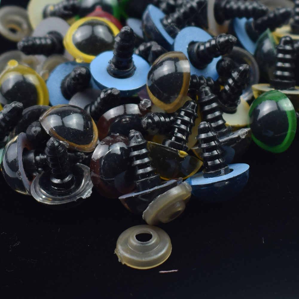 10 шт. безопасные пластиковые глаза игрушки кнопки для детского плюшевого медведя кукла животное Кукольное ремесло Googly глаза используется кукла аксессуары