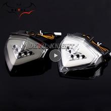 Luz trasera LED intermitente para freno trasero de motocicleta, luz de señal de giro para HONDA CB1000R, CBR600F, CB 1000R, CB1000 R