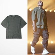 KANYE WEST T-shirt ÜBERGROßEN Hip Hop T-shirts Männer Halben Hülse Justin Bieber Marke Bekleidung t-shirt homme Swag Lovers Streetwear