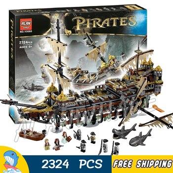 2324 Uds la nave de batalla pirata del Caribe Mary silenciosa insignia MODELO DE 10680 bloques de construcción ladrillos juguetes Compatible con