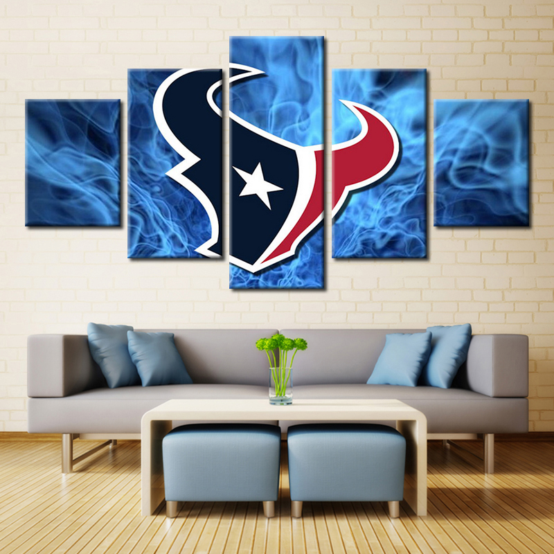 Forbeauty Houston Texans Team Logo Landscape Painting Canvas