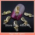 10pcs  gold metal nail art combs DIY arts nail accessories nail studs 3d charms MNS73