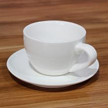 Adeeing Elegant Exquisite White Porcelain Coffee Cup and Dish Set for Bars Home Cafes Offices Without Spoon
