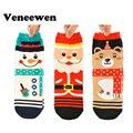 3 Par 2016 Nova Mulheres Inverno Quente Algodão Macio Quente Bonito Papai Noel Do Natal Veados Meias de Natal meias de Natal
