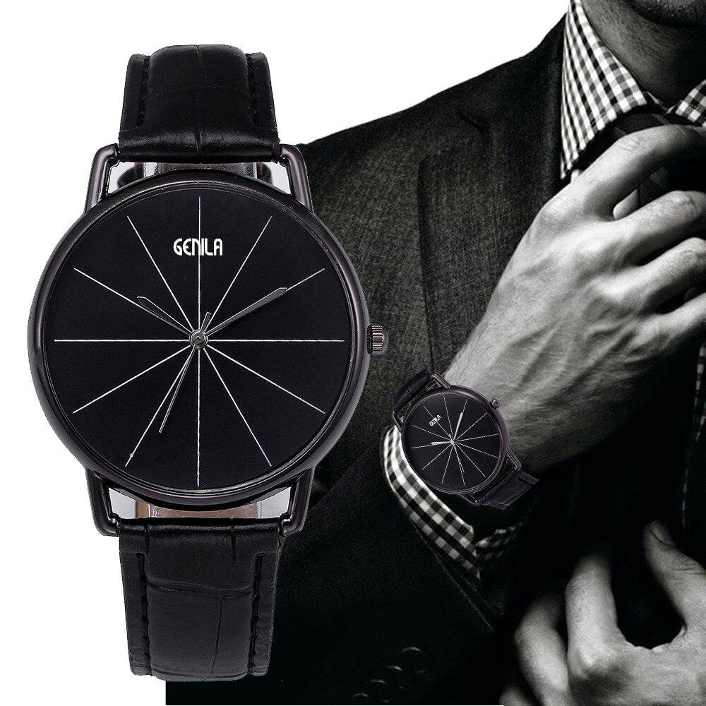 Reloj masculino watch men Retro Design Leather Band Analog Alloy Quartz Wrist Watch gift watch oct.31