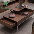 The whole wood furniture Korean creative large-sized apartment TV cabinet combination table storage box function table