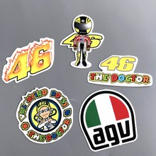 5Pcs/lot Rossi 46 Funny Sticker Decal For Car Bicycle Motorcycle Skateboard Snowboard Waterproof Stickers