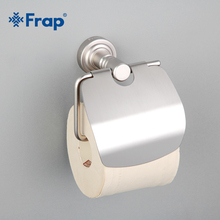 Frap New Arrival Silver Color Wall Mounted Toilet Paper Holder Space Aluminum with Mounting Seat F3703