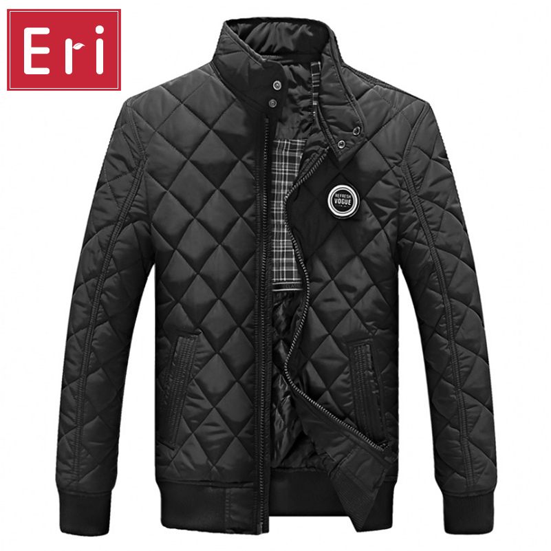 2016 Casual Quilted Jacket Men Warm Black Brand Outwear Chaquetas Plumas Hombre Mens Jackets Coat Stand Collar Slim Clothes X322