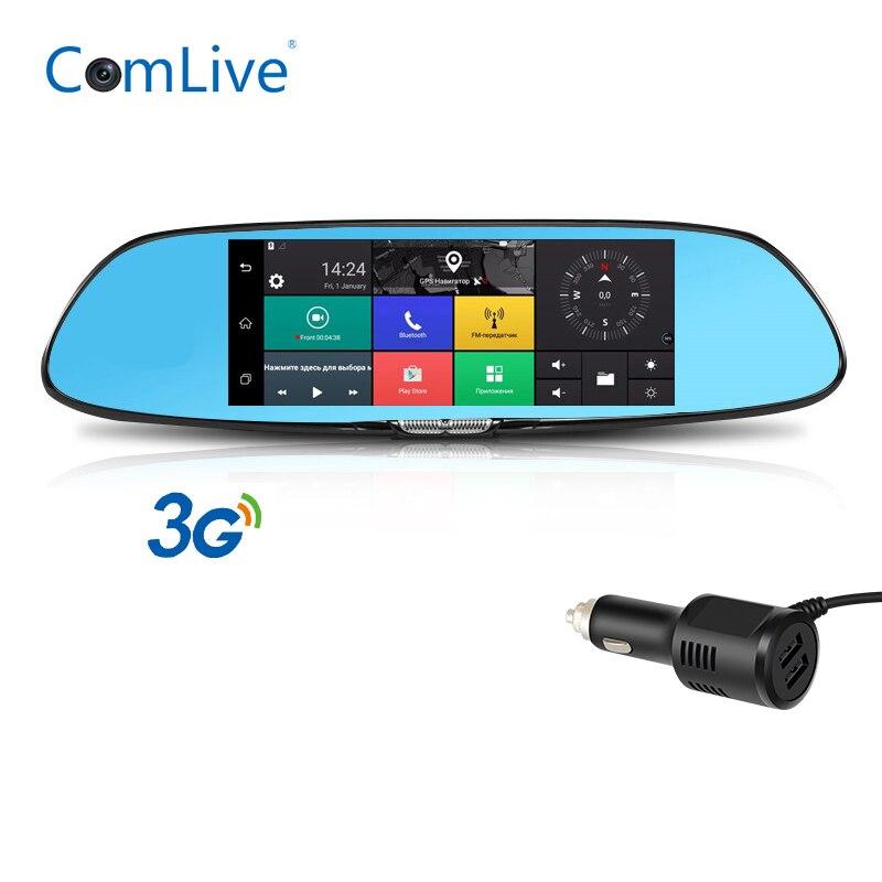 Camlive Car DVR Rearview-Mirror Car-Recorder Gps Navigation Dual-Cams HD1080P Bluetooth