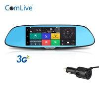 Camlive C08 car dash camera bluetooth GPS navigation dual cams HD1080P rearview mirror car DVR 7 3G RAM1GB ROM16GB car recorder