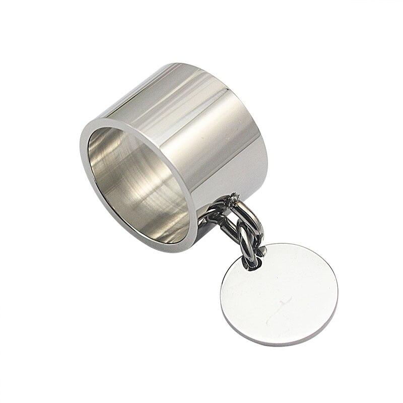 Mode sølvringe anillos rustfrit stål Big Party Charm Ringe til - Mode smykker - Foto 5