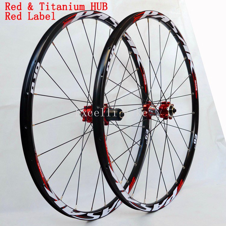 Wheelset 26/27.5 Mountain Bicicleta 2627.5 MTB Aluminium Alloy CNC front 2 rear 4 bearings disc brake 1Pairs Wheels only 1850g 2018 anima 27 5 carbon mountain bike with slx aluminium wheels 33 speed hydraulic disc brake 650b mtb bicycle