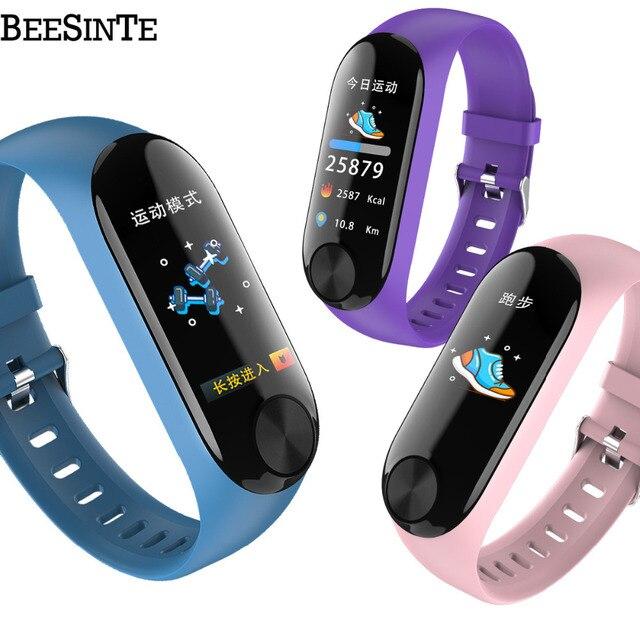 Smart armband waterdichte hartslagmeter bloeddruk voor Fitness Tracker ondersteuning multi sport modus voor Andriod slimme band