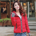 2016 Winter New Fashion Short Section Keep Warm Solid Color Long Sleeve Hooded Slim Women Down Coat