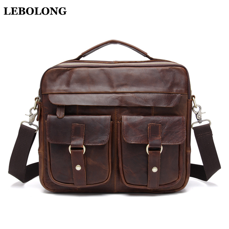New Messenger Bag men's genuine leather men shoulder bag Casual Male briefcases laptop Crossbody bags for men handbags ograff genuine leather men bag handbags briefcases shoulder bags laptop tote bag men crossbody messenger bags handbags designer