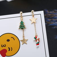 Women's Asymmetric Christmas Earrings