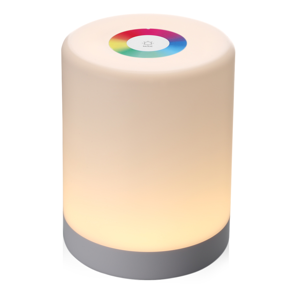 LED Touch Control Night Light Induction Dimmer Lamp Smart Bedside Lamp Dimmable RGB Color Change Rechargeable