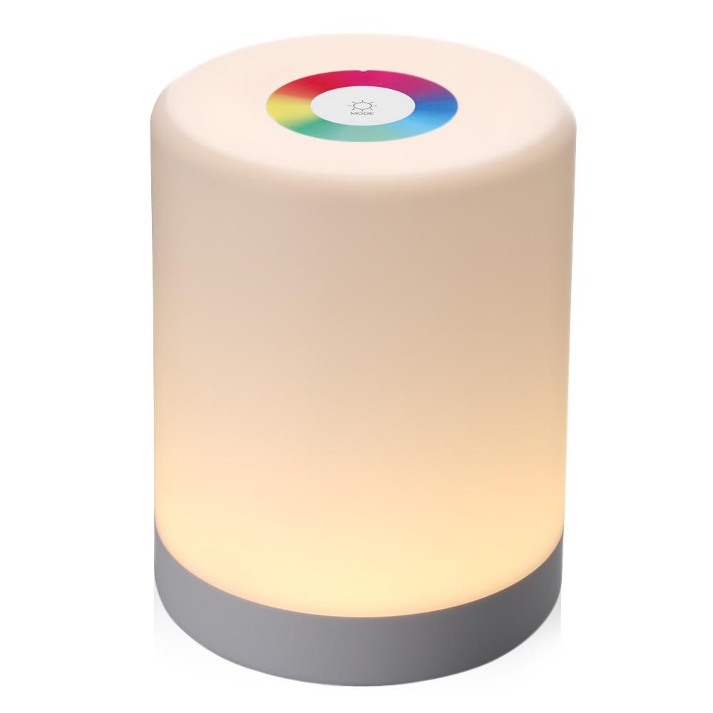 LED Touch Control Nachtlicht Induktion Dimmer Lampe Intelligente Nachttischlampen Dimmbar RGB Farbwechsel Wiederaufladbare Smart