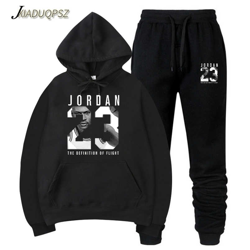 dbcb68369e71de Men Set Autumn Sweatshirt JORDAN 23 Mens Tracksuit +Pants 2018 Brand  Sportswear Man 2PCS Stand