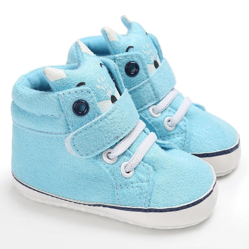 2017 Cartoon Baby soft soled shoes 0-18 M toddler infant boy girl Blue Fox prewalker first walkers chaussures bebes fille garcon