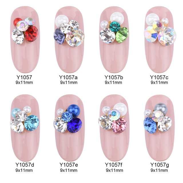 10pcs New design decorative rhinestones 3d nail art decoration nail ...