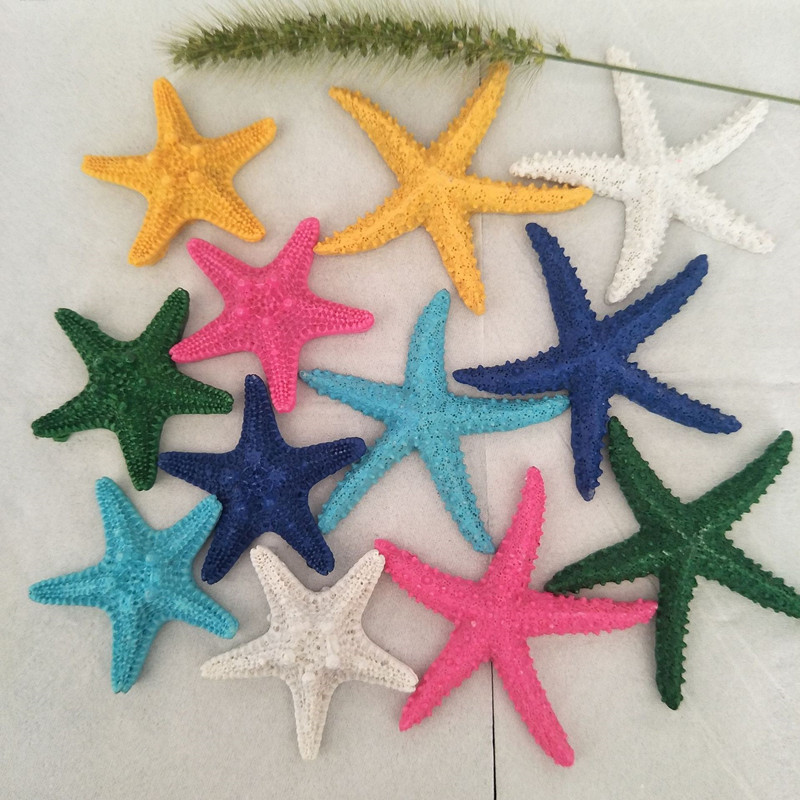 Mediterranean Diy Resin Mini Starfish Decorative Accessories Fish Tank Background Wall Decoration Shooting Props Home Decoration