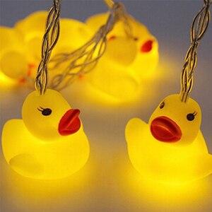 Image 5 - 10 LED/20 LED 미니 옐로우 오리 LED 문자열 빛 글로우 실내 야외 크리스마스 웨딩 파티 배터리 운영 LED 요정 빛