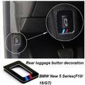 2 unids acrílico posterior del coche de equipaje etiqueta engomada del botón para 2011-2015 BMW 5 Sereis F10 F18 GT 520i 525i