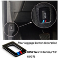 2pcs acrylic car rear luggage button sticker for 2011-2015 BMW 5 Sereis F10 F18 GT 520i 525i