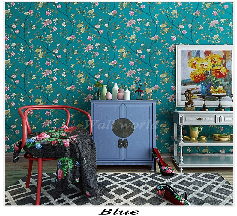 PAYSOTA Modern Chinese Style Romantic Pastoral Large Painting Of Flowers And Bird Bedroom Living Room TV Setting Wall Paper fashion chinese style flowers and bird pattern removeable wall stickers