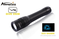 ALONEFIRE D25 CREE XML2 LED Stepless adjusted diving photography flashlight Torch lamp for 2x18650/26650 rechargeable battery
