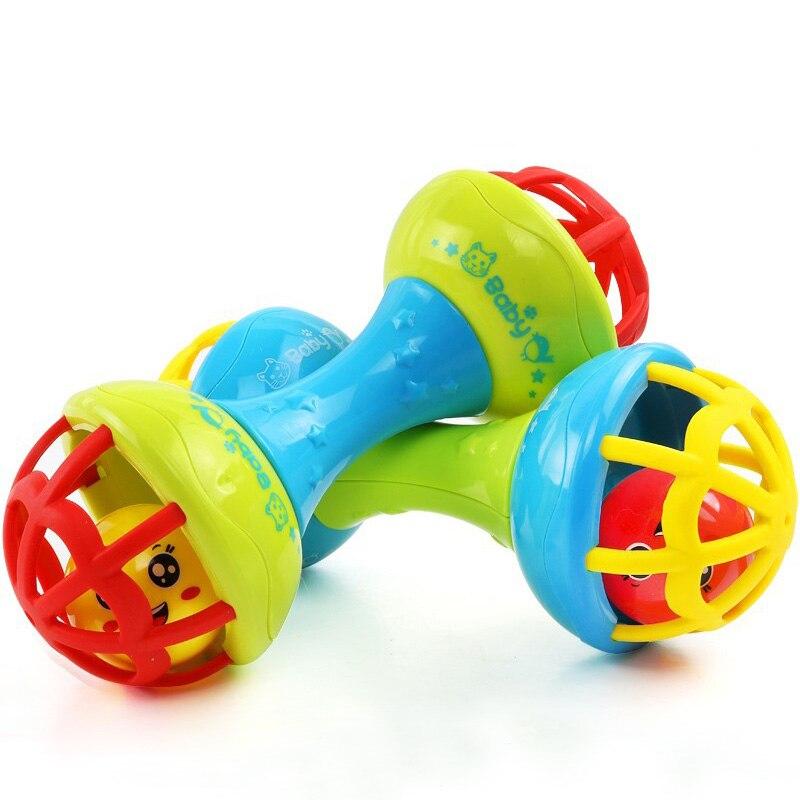 Детские погремушки Игрушка интеллект захватывающие десны пластиковая ручная погремушка забавные развивающие мобильные телефоны игрушки