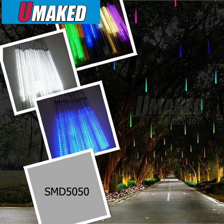 10 tubes/set 50 cm SMD5050 220 V 48 LED s/LED tube chute de neige, LED lumière de noël, tube de pluie étanche, tube de météore LED