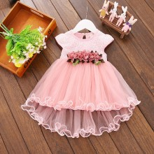 baby girl dress newborn infant toddler clothes cotton sleeveless bow birthday party princess dress baby girl clothes Sleeveless Newborn Dresses Baby Girl Dress Princess Dress Newborn Baby Girl Clothes Summer Flower Bow Decoration Gauze